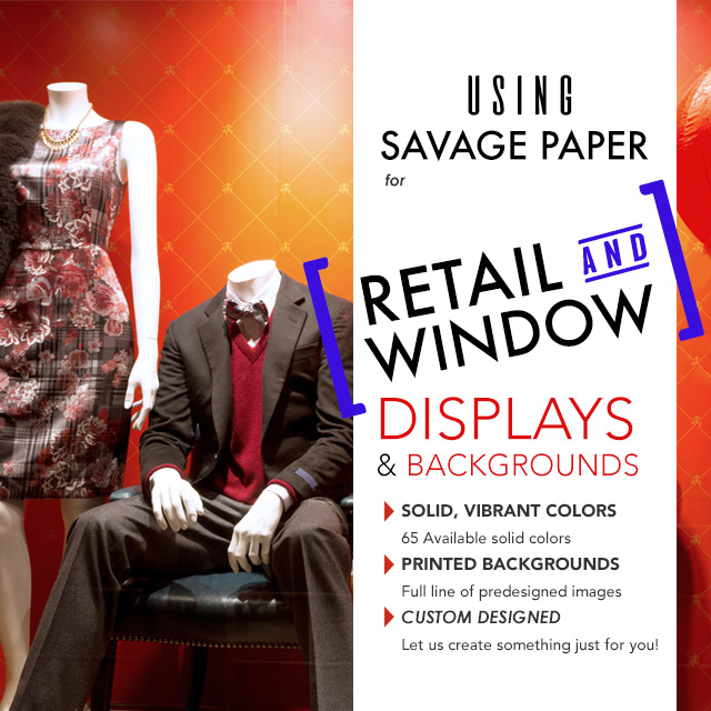 paper backgrounds for retail display
