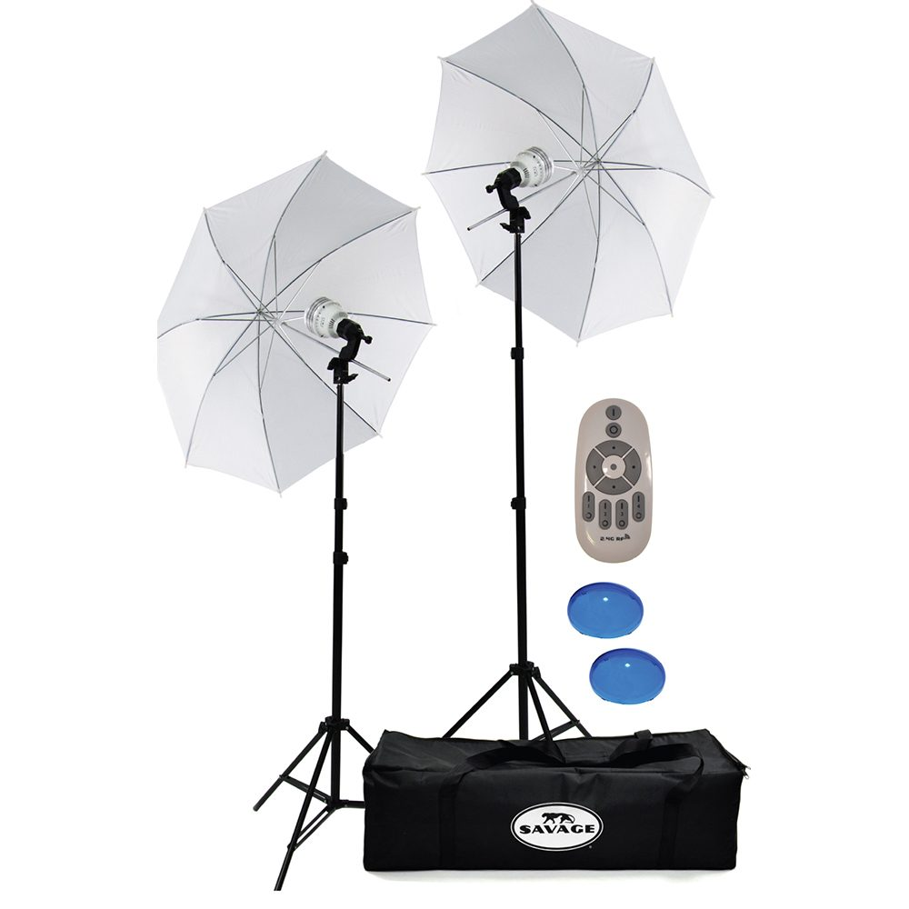 savage 700 watt bicolor led studio light kit