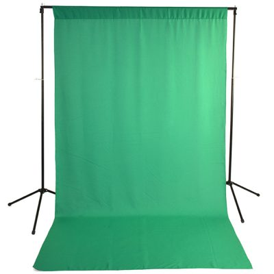Green Wrinkle-Resistant Background with Optional Stand