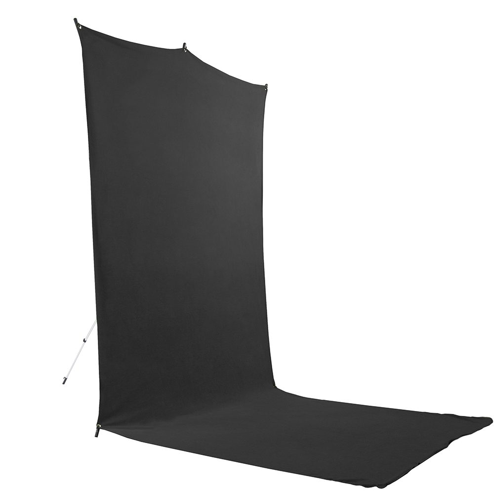 Savage Floor Extended Black Backdrop Travel Kit