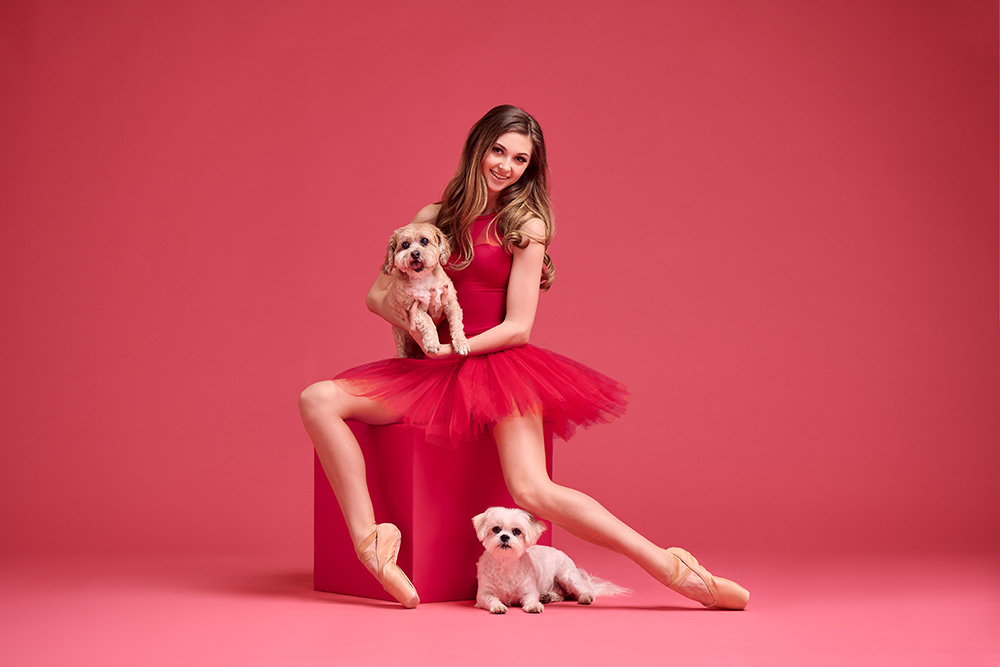 Dancers and Dogs: Red Series