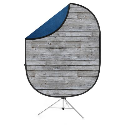 Savage Gray Pine/Blue Collapsible Backdrop