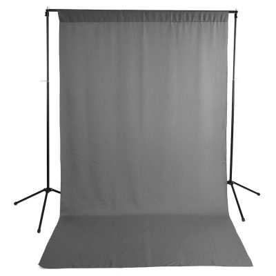 Gray Wrinkle-Resistant Background with Optional Stand