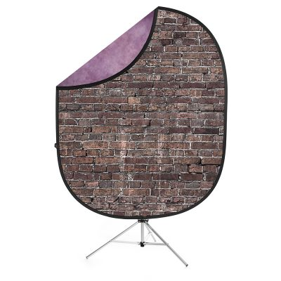 Savage Grunge Brick/Purple Collapsible Background