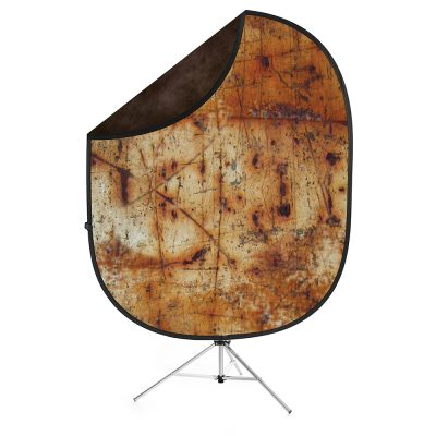 Savage Industrial Grunge/Brown Collapsible Backdrop