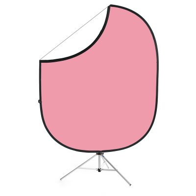 Light Pink/White Collapsible Backdrop