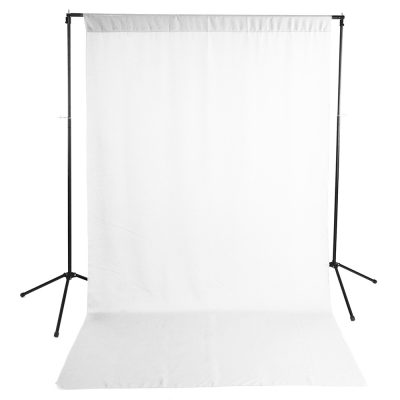 White Wrinkle-Resistant Background with Optional Stand