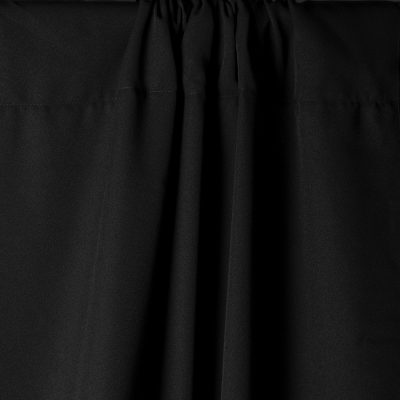 Black Wrinkle-Resistant Background with Optional Stand