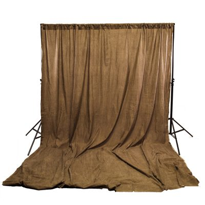 Brown Washed Muslin Backdrop