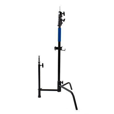 black coated stainless steel c-stand