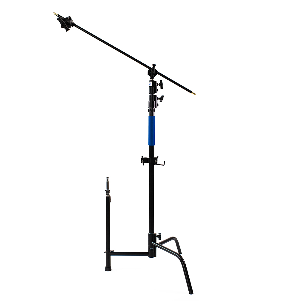 black coated stainless steel c-stand with grip arm kit