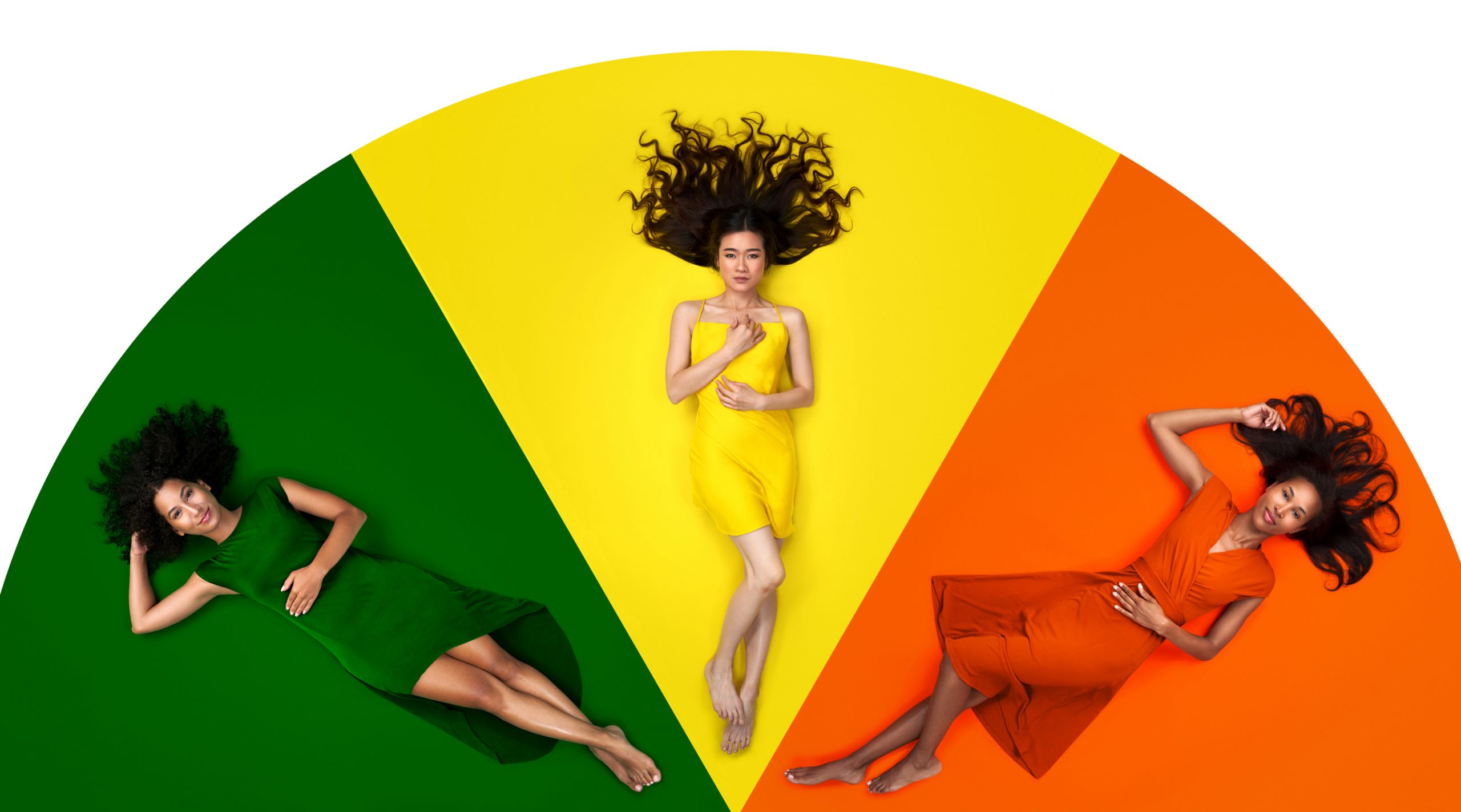 Color wheel portraits with Savage Seamless Background Paper